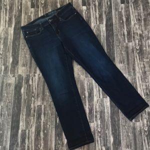 Gap Skinny roll up jeans size 10 dark wash jeans